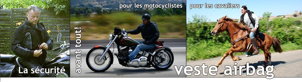 Tout sur la Veste Airbag (blouson, gilet airbag) pour les motards et pour l'équitation - invention hongroise